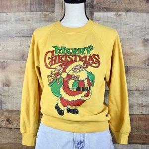 Vintage 80s 'Merry Christmas' Crewneck Sweatshirt